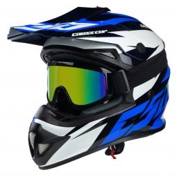 Moto prilba CASSIDA Cross Cup Two modrá-biela