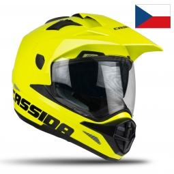 Moto prilba CASSIDA Tour žltá