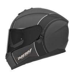 Moto prilba NOX N302 sivo-čierná-strieborná matná