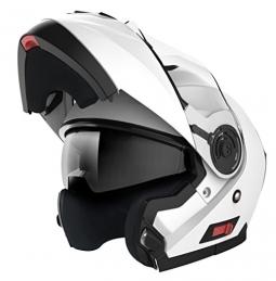 Moto přilba HORN biela + slunečná clona