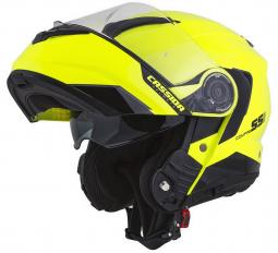 Moto prilba CASSIDA Compress 2.0 Refraction žlto-čierná