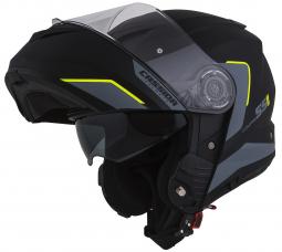 Moto prilba CASSIDA Compress 2.0 Refraction čierná-žltá