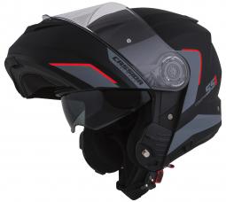 Moto prilba CASSIDA Compress 2.0 Refraction čierná-červená
