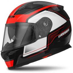 Moto prilba CASSIDA Apex Fusion čierno-červená