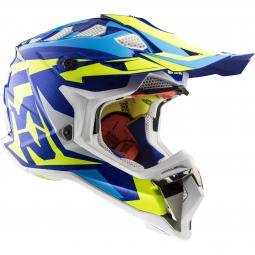 Moto prilba LS2 MX470 SUBVERTER CROSS ATV biela-modrá