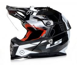 Prilba LS2 MX436 čierno-biela