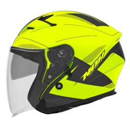 Moto prilba NOX N127 FUSION čierna-žltá