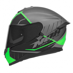 Moto prilba NOX N302-S FASTLINE čierna-zelená + pinlock
