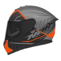 Moto prilba NOX N302-S FASTLINE čierna-oranžová + pinlock
