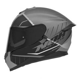 Moto prilba NOX N302-S FASTLINE čierna-strieborná