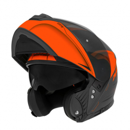 Moto prilba NOX N965 EKO čierna-oranžová + pinlock