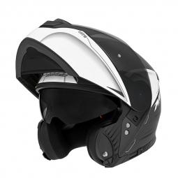 Moto prilba NOX N965 EKO čierna-biela