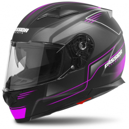Moto prilba CASSIDA Apex Fusion čierno-ružová matná
