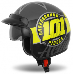 Moto prilba CASSIDA Oxygen 101 Riders čierno-žltá