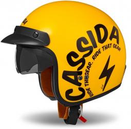 Moto prilba CASSIDA Oxygen Gear žltá