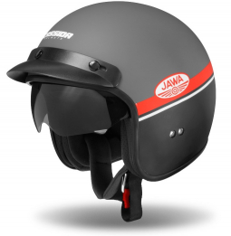 Moto přilba CASSIDA Oxygen Jawa OHC sivá-čierná matná