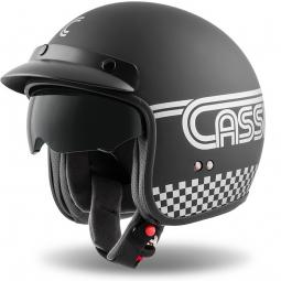 Moto přilba CASSIDA Oxygen Rondo čierno-strieborná matná