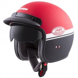 Moto prilba CASSIDA OXYGEN JAWA OHC červená-čierná