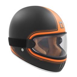Moto prilba NOX PREMIUM RAGE SPITFIRE čierno-oranžová