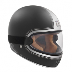 Moto prilba NOX PREMIUM RAGE SPITFIRE čierno-strieborna