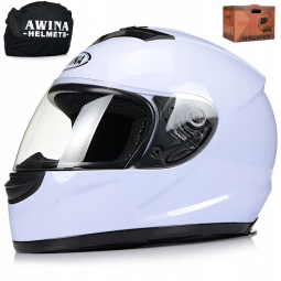 Moto prilba AWINA integrálna biela