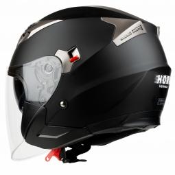 Moto prilba HORN Blenda Chopper čierná + slunečná clona KUKLA !