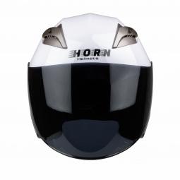 Moto prilba HORN Blenda UV biela + slunečná clona KUKLA !
