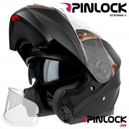 Moto prilba HORN H925 Fli-Up čierná matná + slunečná clona