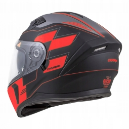 HELMET INTEGRAL 3.0 ROXOR, CASSIDA (BLACK MATT/RED /GREY, PINLOCK READY VISOR)