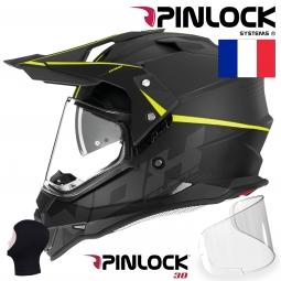 PRILBA N312 CROW, NOX (ŽLTÁ) + kukla Pinlock30