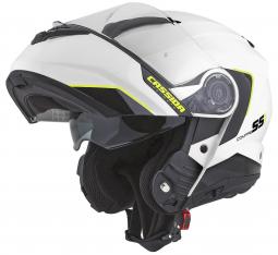 Moto prilba CASSIDA Compress 2.0 Refraction biela-čierná