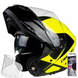 + PINLOCK Moto prilba CASSIDA VELOCITY ST 2.1 žlto-čierna