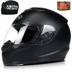 Moto prilba AWINA integrálna čierna matná