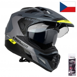 + PINLOCK70 HELMET TOUR 1.1 SPECTRE, CASSIDA (GREY/LIGHT GREY/YELLOW FLUO/BLACK, PINLOCK READY VISOR)