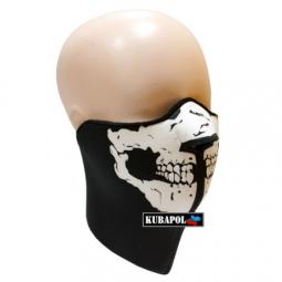 Maska - čierna s potlačou