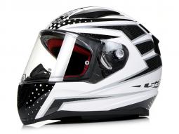 Prilba L32 FF353 RAPID čierno-biela