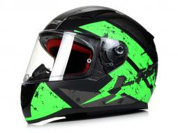 Prilba L32 FF353 RAPID čierna matná - zelená
