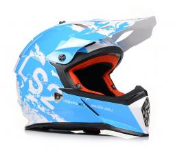 Prilba LS2 MX437 modro-biela