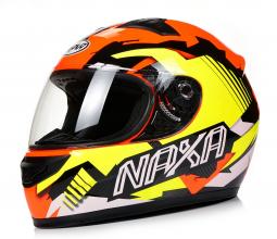 Prilba NAXA F22/F SPEED oranžovo-žltá