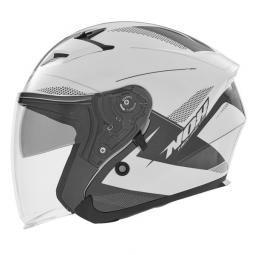 Moto prilba NOX N127 FUSION čierna-biela