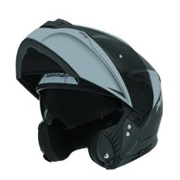Moto prilba NOX N965 EKO čierna-sivá