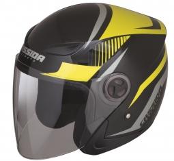Prilba CASSIDA Reflex čierna matná - žltá