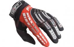 Motocyklové rukavice PIONEER čierno-červené