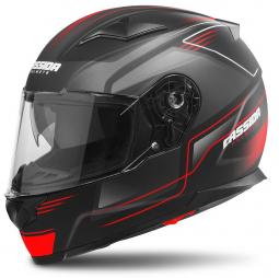 Moto prilba CASSIDA Apex Fusion čierno-červená matná