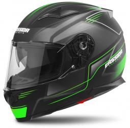 Moto prilba CASSIDA Apex Fusion čierno-zelená matná