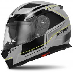 Moto prilba CASSIDA Apex Fusion sivo-čierná