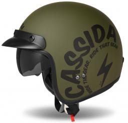 Moto prilba CASSIDA Oxygen Gear zelená matná
