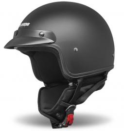 Moto prilba CASSIDA Police čierná matná