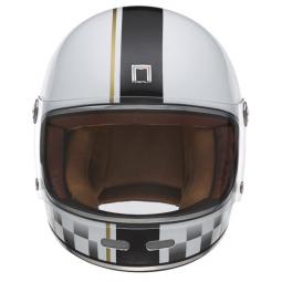 Moto prilba NOX PREMIUM REVENGE CHECK bielo-čierna